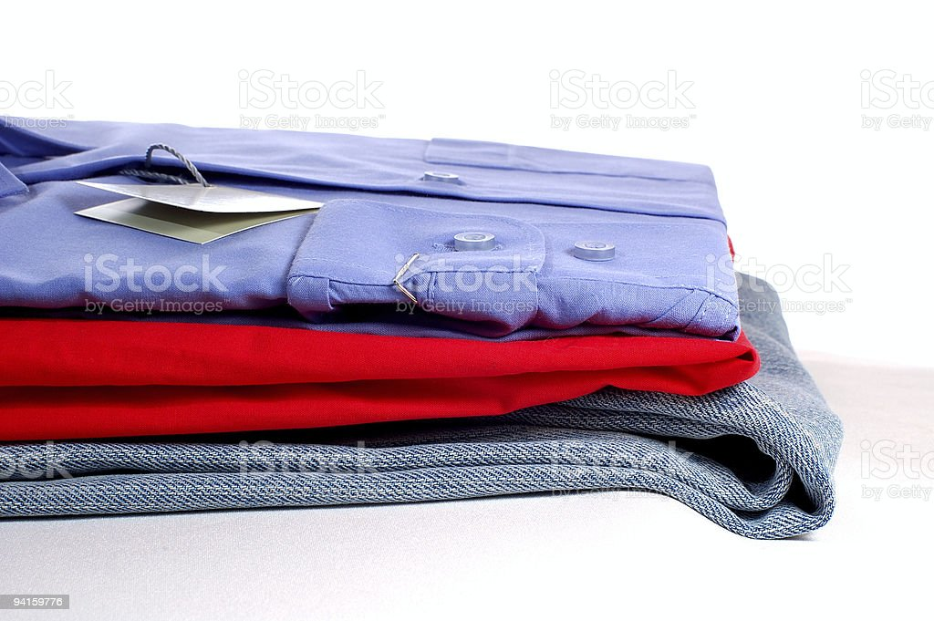 pile clothing waits for purchase royalty-free stock photo
