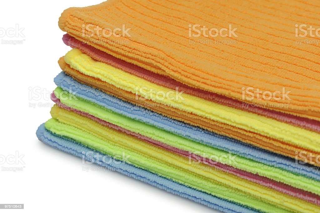 Pile double color towels royalty-free stock photo
