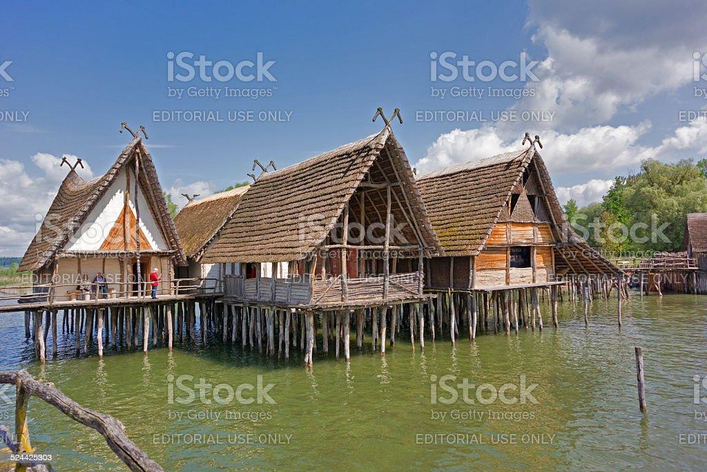 Pile Dwellings of Unteruhldingen stock photo