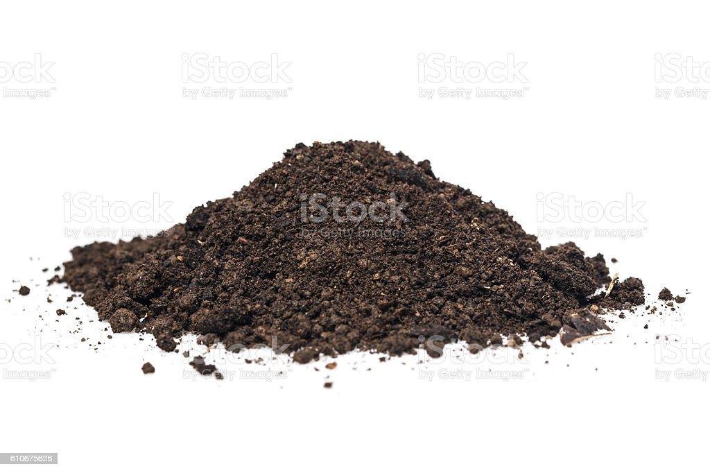 Pile heap of soil humus stock photo
