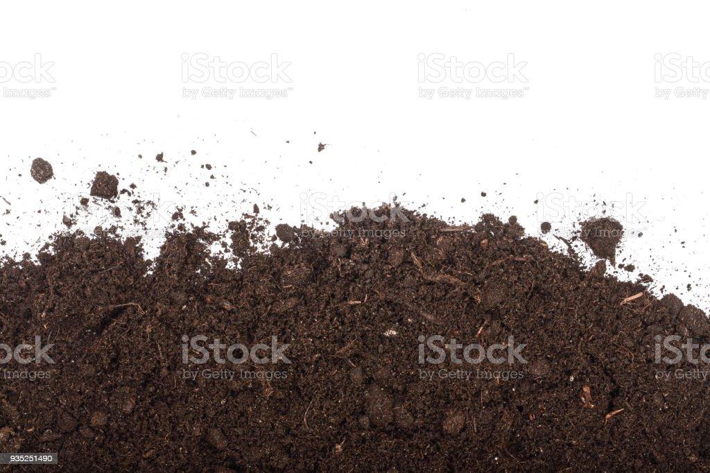 Tas de tas de sol isolé sur fond blanc avec espace de copie pour votre texte. Vue de dessus - Photo