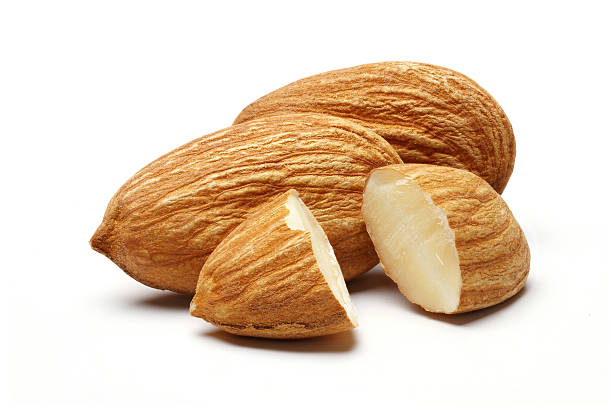 Pile Of Almonds stock photo