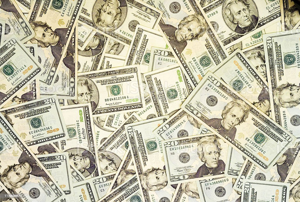 Pile of american dollars for backgrounds royalty-free stock photo