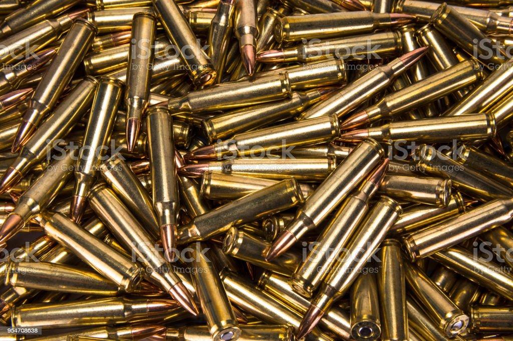 Pile of ammo stock photo