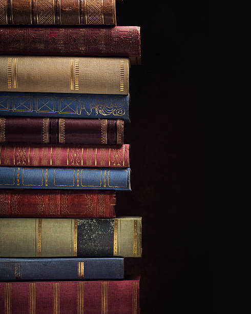 pile of ancient books - stack rock stock pictures, royalty-free photos & images