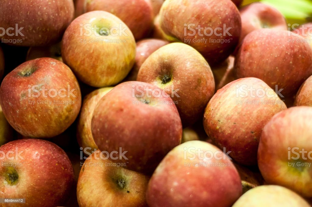 Pile of apples stock photo