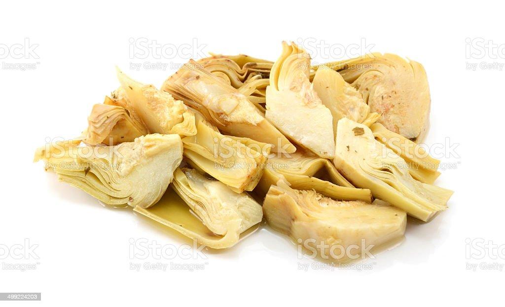 Pila di Cuore di carciofo fette - foto stock