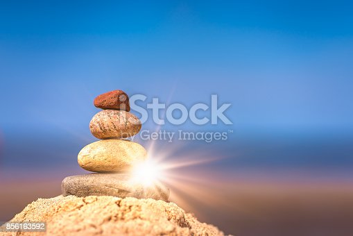 186803914 istock photo Pile of balanced stones 856163592