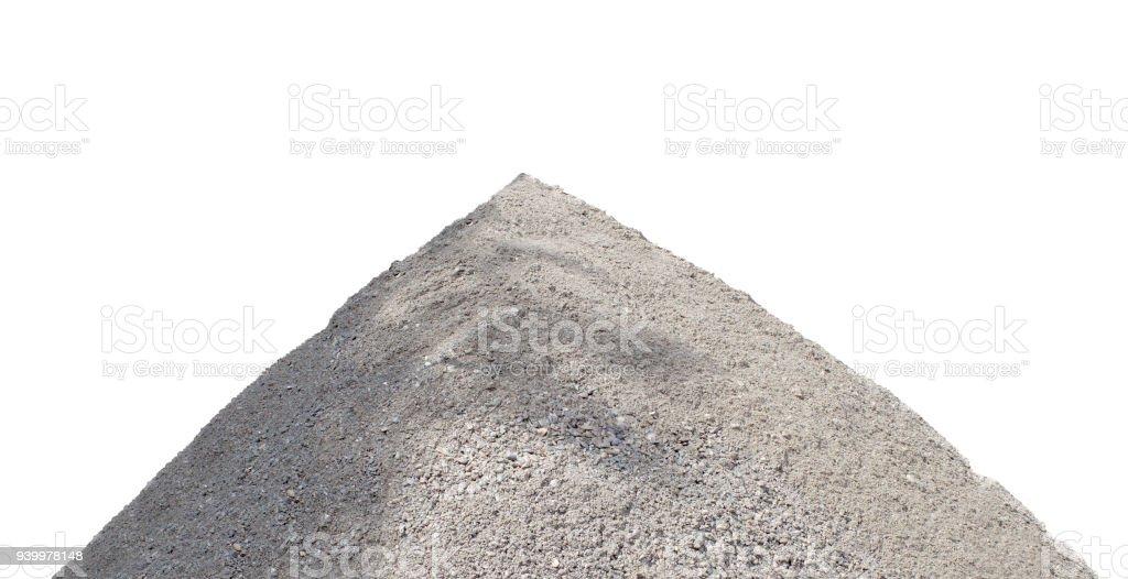 pile of ballast ground isolated on white stock photo