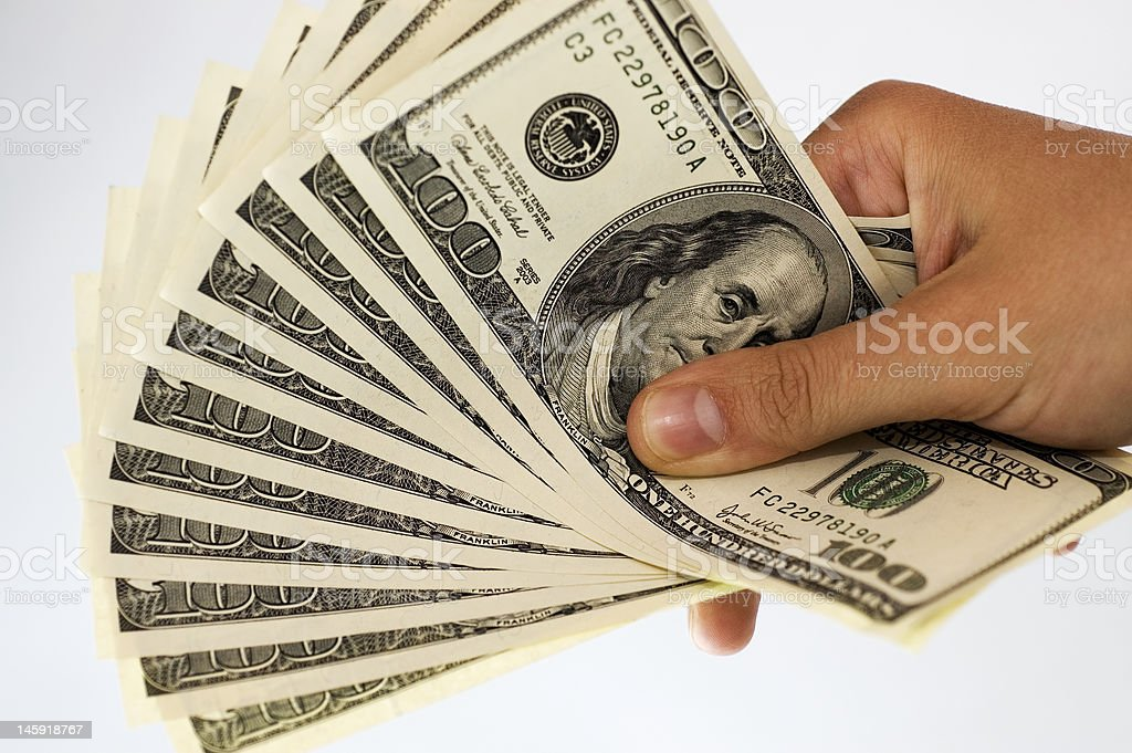 Pile of Banknotes royalty-free stock photo