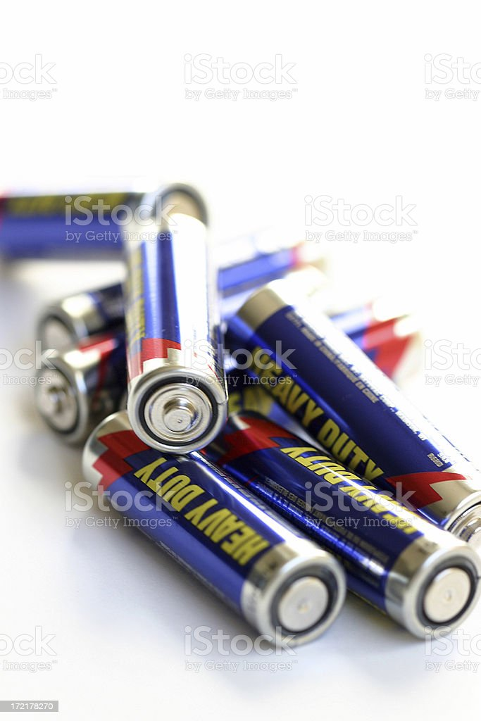 Pile of Batteries stock photo