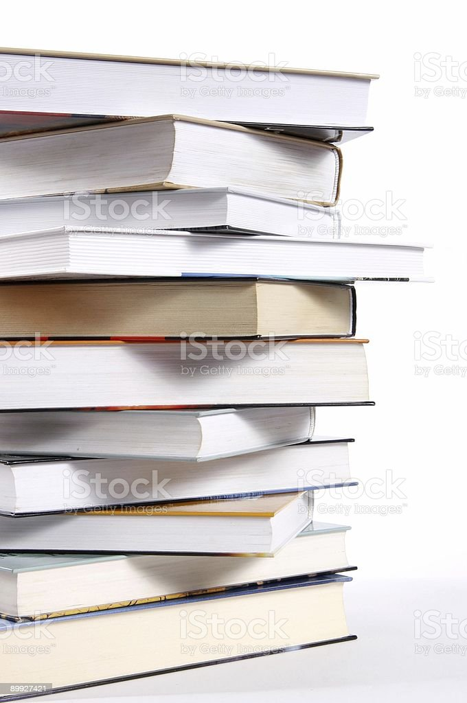 Pile of bestsellers books royalty-free stock photo