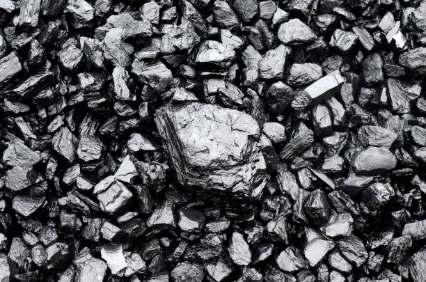 pile of black coal - lead stock photos and pictures