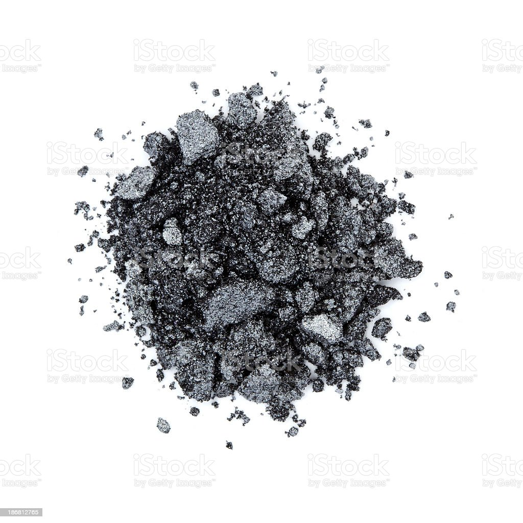 Pile of black color eye shadow stock photo