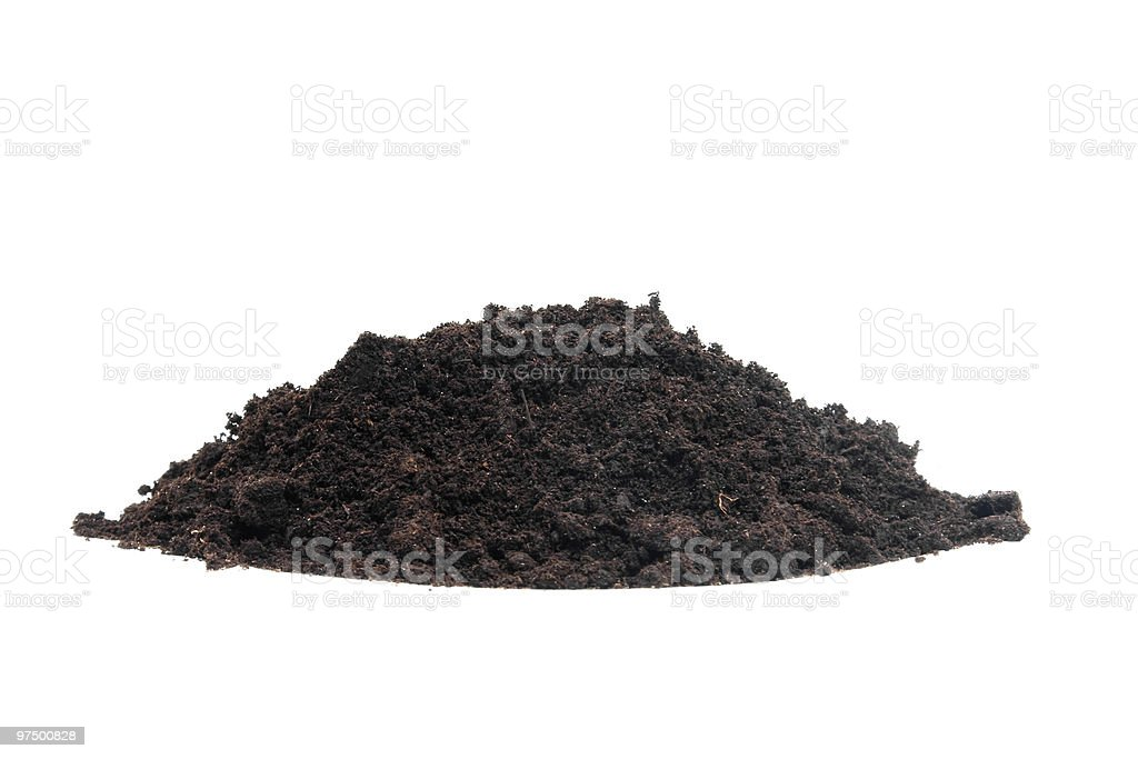 pile of black garden soil royalty-free stock photo