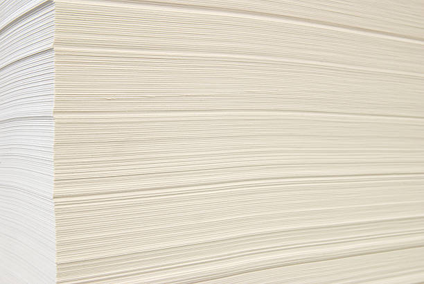 Pile of blank paper stock photo