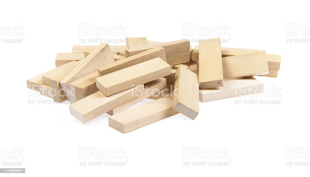 Pile of blocks royalty-free stock photo
