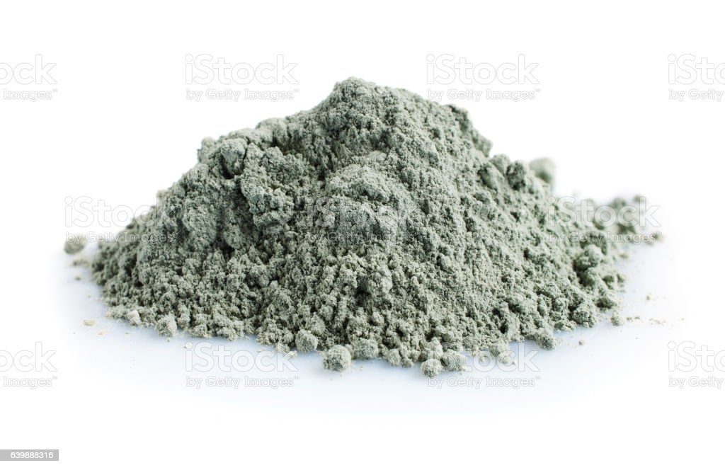 Pile of blue cosmetic clay stock photo