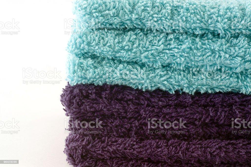 Haufen von blue Handtücher Lizenzfreies stock-foto