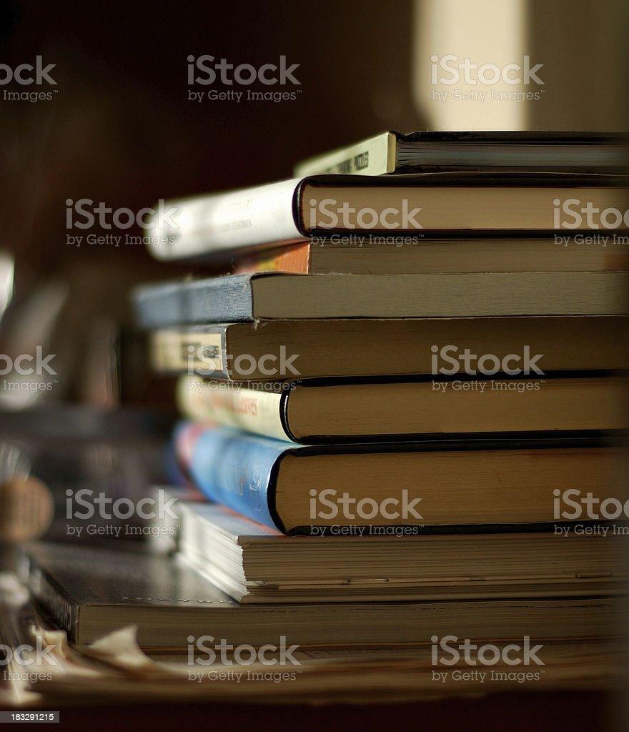 pile of books 1 stock photo