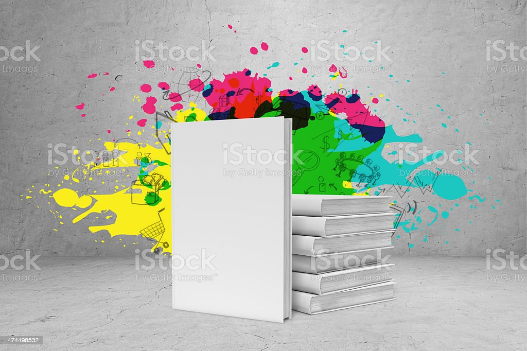 Pile Of Books With Bright Ideas Stock Photo More Pictures Of 2015