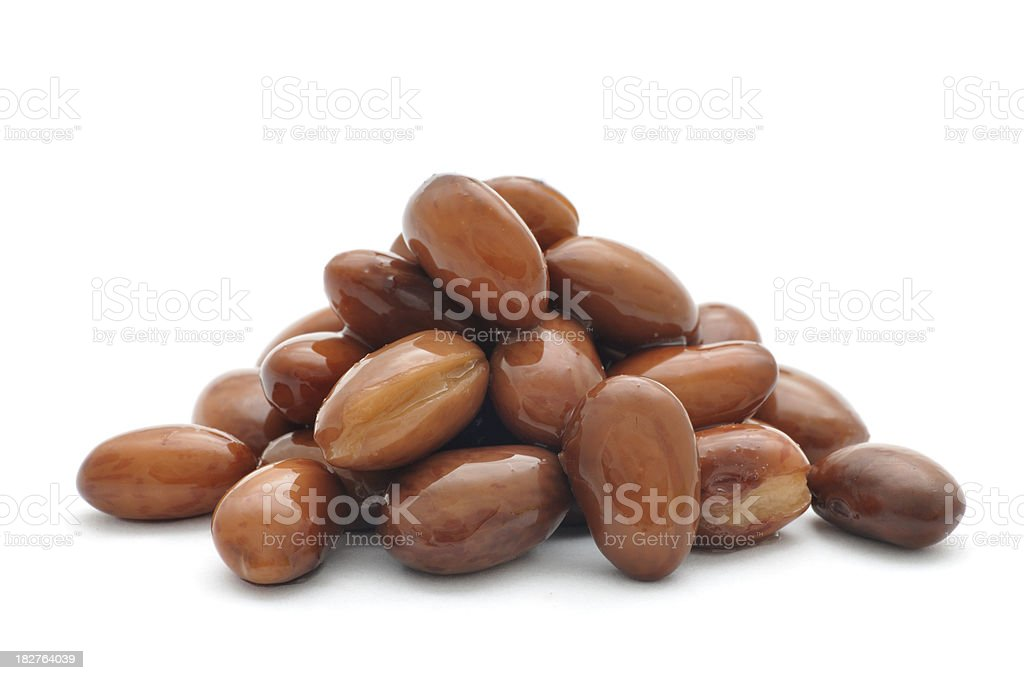Pile of Borlotti Beans stock photo