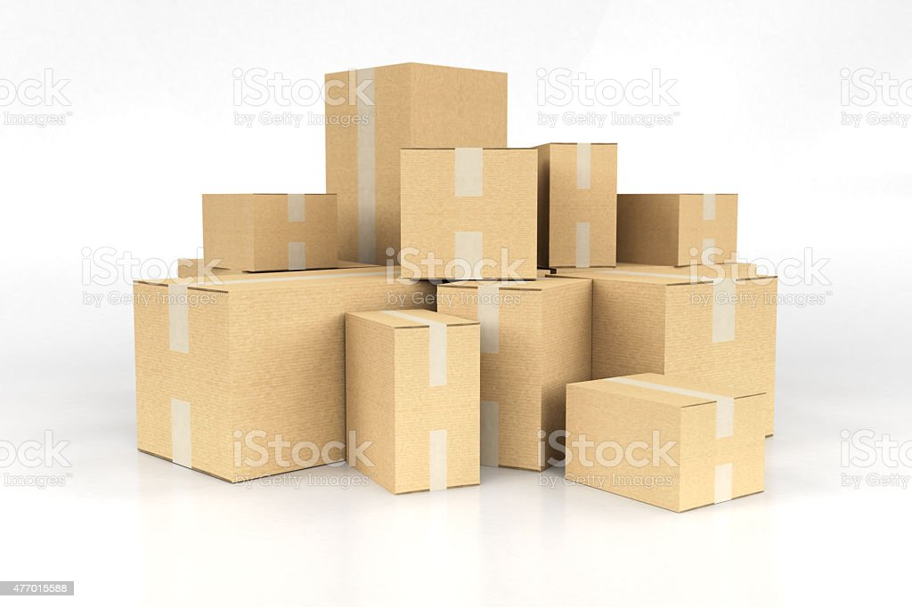 Pile of boxes stock photo