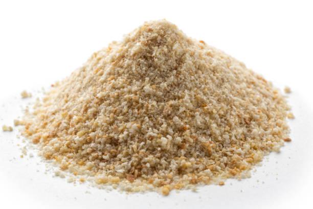 Pile of breadcrumbs stock photo