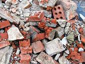pile of bricks on the ground. stock photo