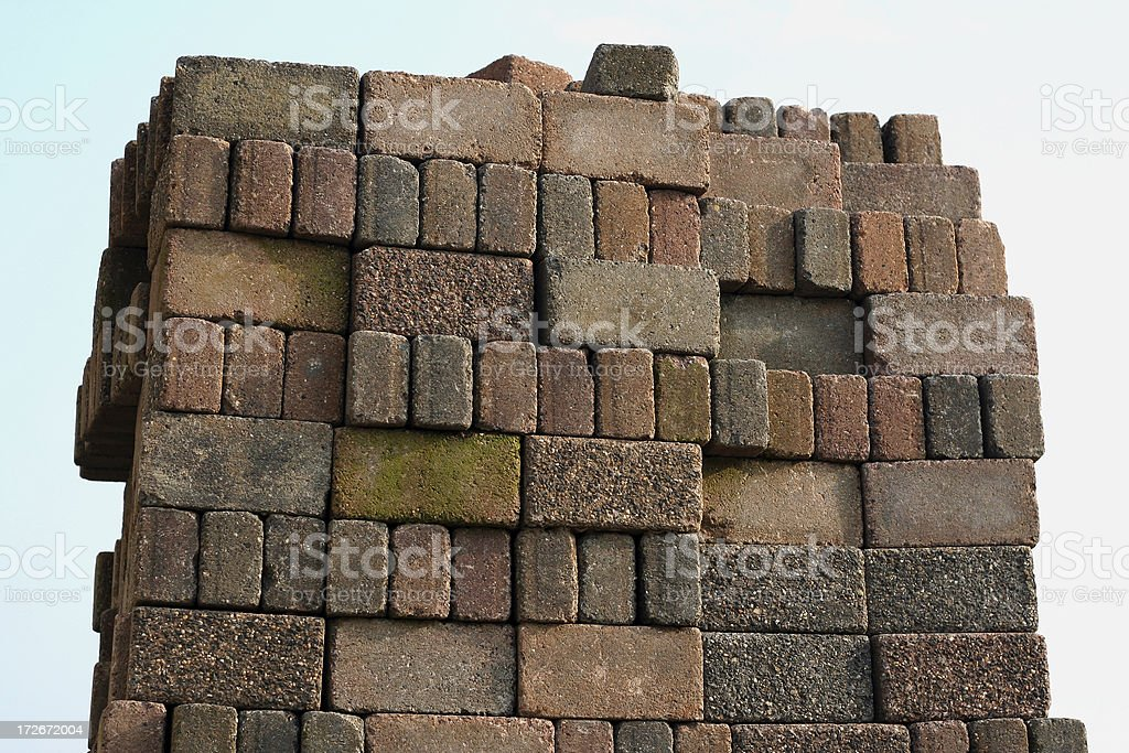 Pile of bricks royalty-free stock photo
