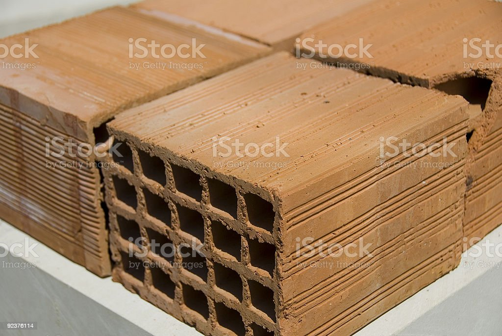 Pile of bricks,high angle view royalty-free stock photo
