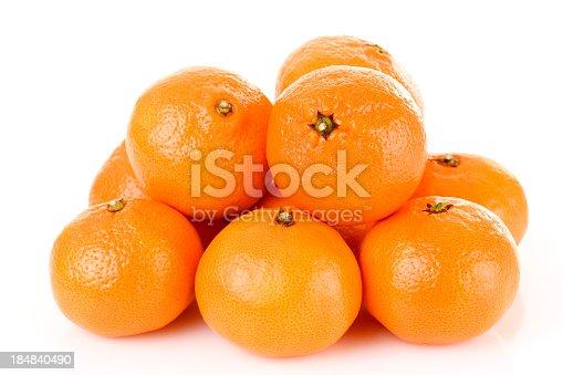 fresh tangerine fruits isolated on white