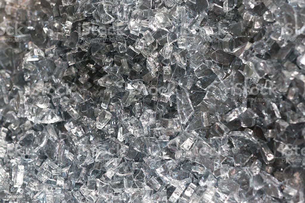 Pile of Broken Glass stock photo
