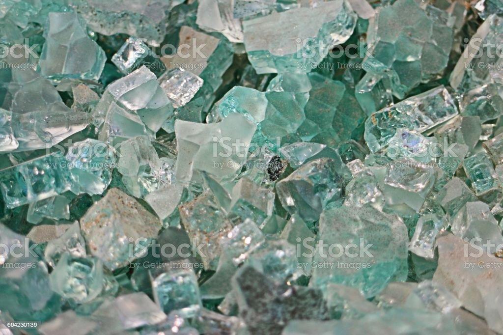 Pile of Broken Glass stock photo