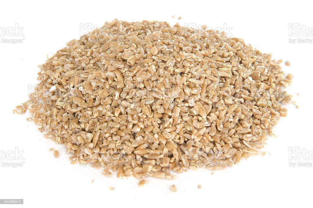 Tas de blé sur blanc bulgar - Photo
