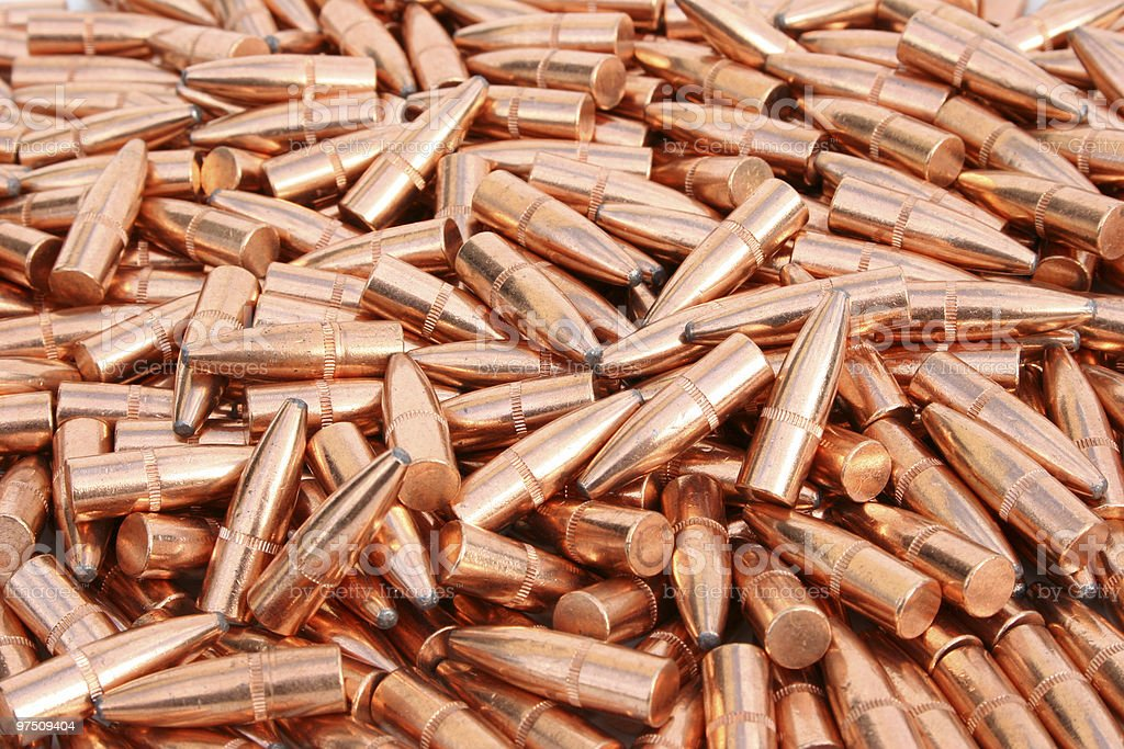 Pile of Bullets royalty-free stock photo