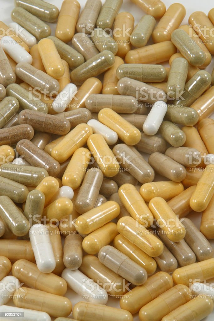 Pile of Capsules 2 royalty-free stock photo