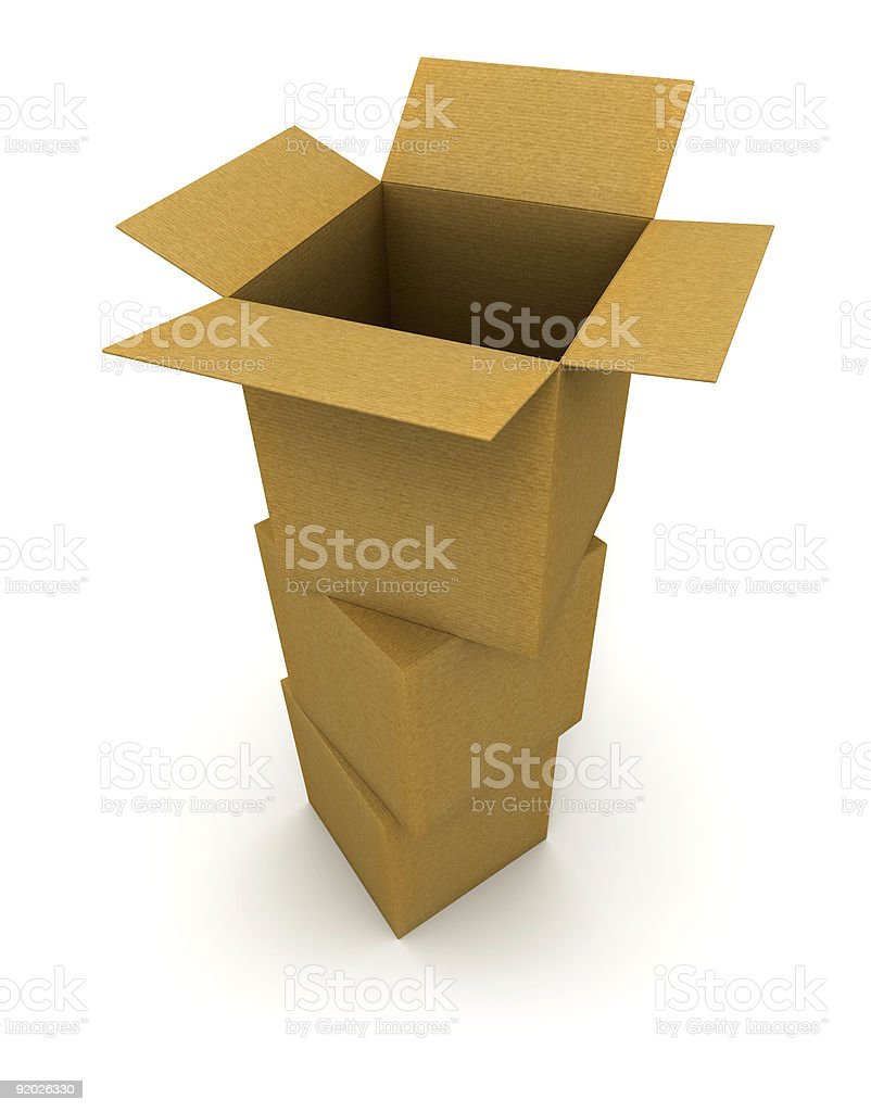 Pile of cardboard boxes royalty-free stock photo