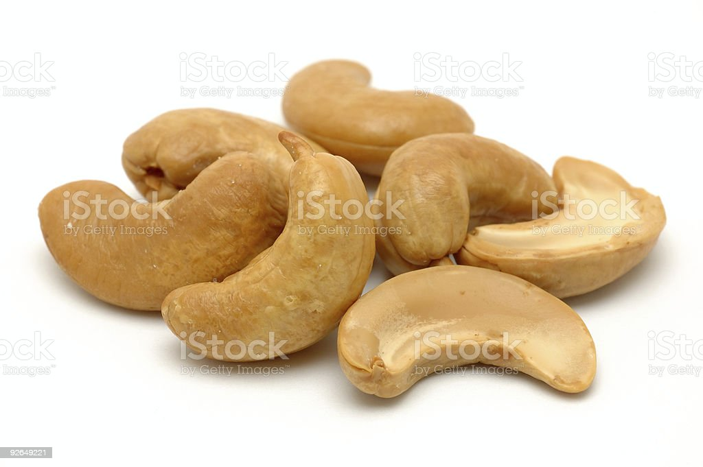 Pile of cashew nuts royalty-free stock photo