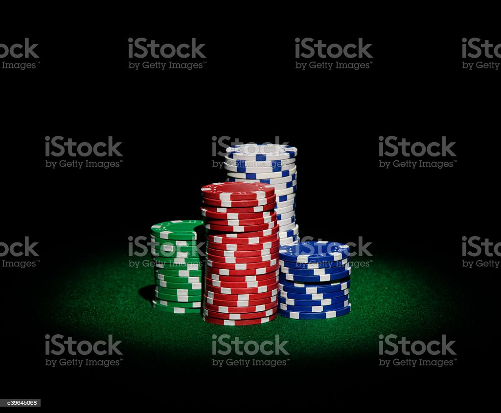 Pile of Casino Chips stock photo