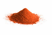 istock Pile of cayenne pepper on white 97997174