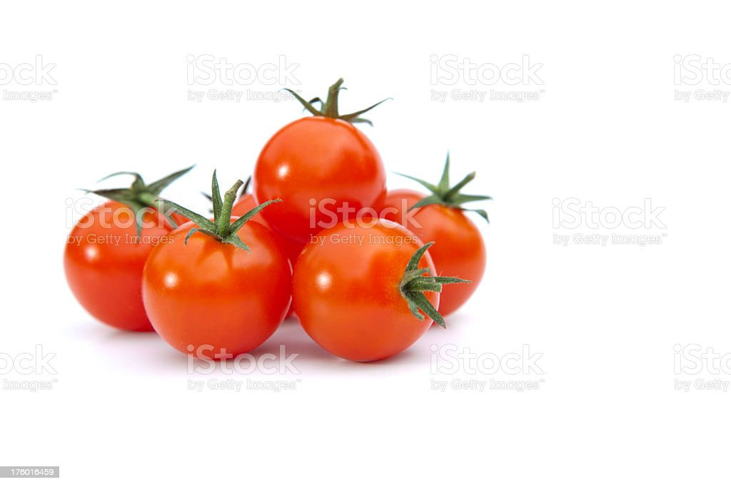 Pile of cherry tomatoes in with background stock photo