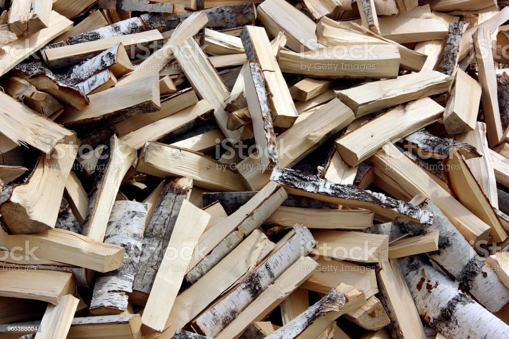 Pile of chopped fire wood prepared for winter royalty-free stock photo