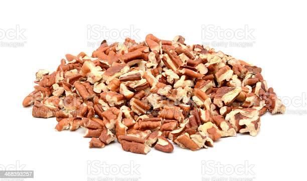 Pile of chopped pecan nuts on white picture id468393257?b=1&k=6&m=468393257&s=612x612&h=2jyul3kayvs2uzkqi3n451ydujs0obi2qdxpifs6nea=