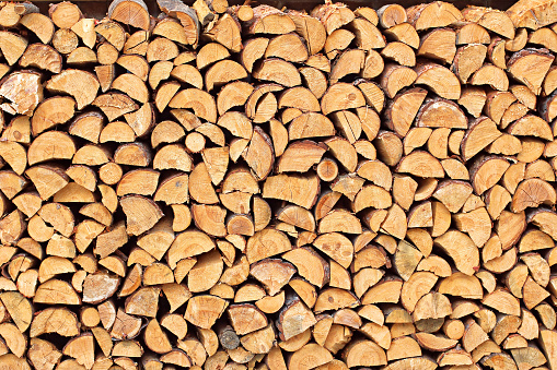 Pile of chopped wood material 3