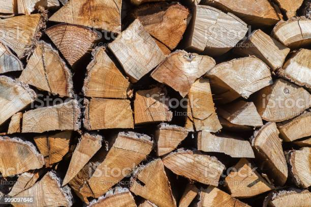 Photo of Pile of chopped wood material