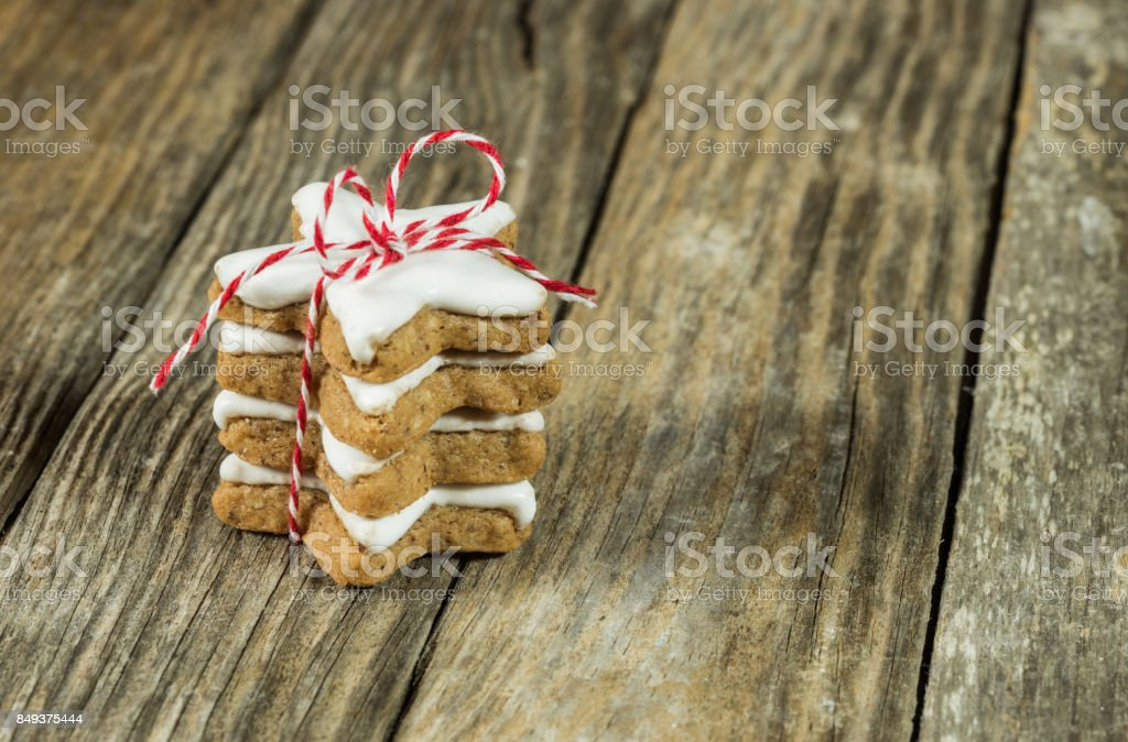 Pile of Christmas cookies stock photo