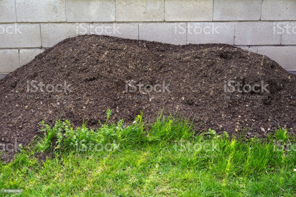 Pile of clay from compost royalty-free stock photo