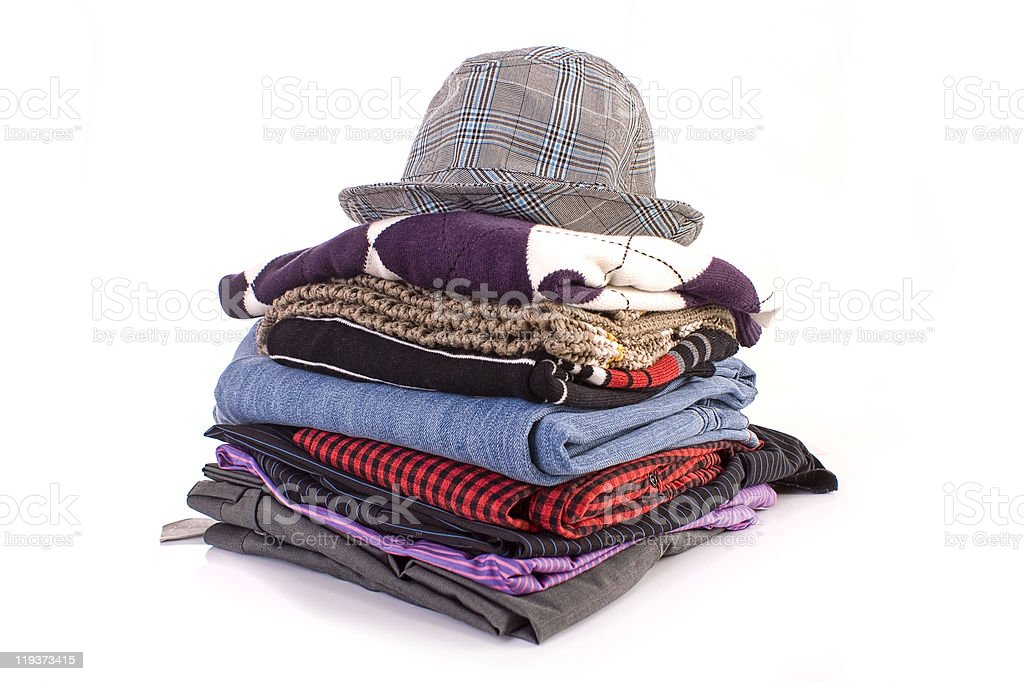 Pile of clothes royalty-free stock photo
