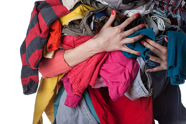 Pile of clothes stock photo